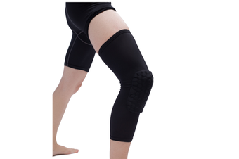 Knee Pad,Leg Sleeve Knee Brace Knee Support,Honeycomb Crashproof Black Xl