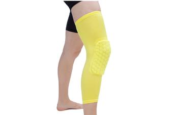 Knee Pad,Leg Sleeve Knee Brace Knee Support,Honeycomb Crashproof Yellow M