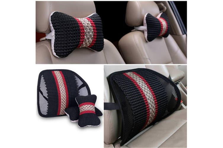 Car Seat Waist Cushion Breathable Mesh Hole Ice Silk Waist Leaning Cushion - 3# Color