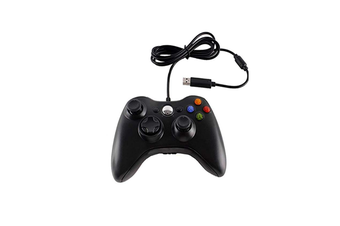 Wired Controller Usb Cable Gamepads Compatible With Microsoft Xbox 360 Console Black