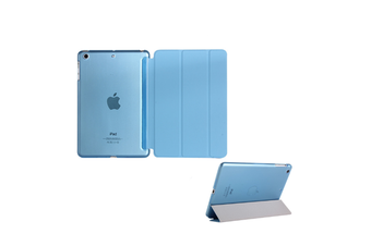 Premium Leather Business Slim Folding Stand Folio Cover For Ipad Ipad Mini 1/2/3 Blue