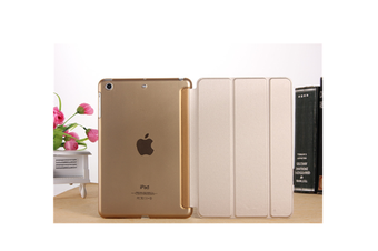 WJS Premium Leather Business Slim Folding Stand Folio Cover for 2020 Ipadpro-GOLD-2020 PRO 11 Inch