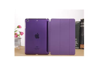 Premium Leather Business Slim Folding Stand Folio Cover For Ipad Ipad Mini 1/2/3 Purple