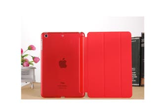 Premium Leather Business Slim Folding Stand Folio Cover For Ipad Ipad Mini 1/2/3 Red