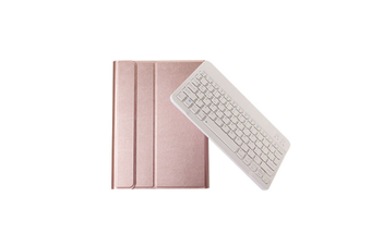 Wireless Bluetooth Keyboard Leather Protective Cover For Apple Ipad Rose Gold Pro10.5 Inch
