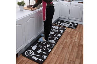 Non-Slip Kitchen Floor Mat Doormat Runner Rug - 2 , 50X160Cm