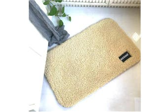 Inside Floor Dirt Trapper Mat Cotton Entrance Rug Shoe Scraper Washable Carpet Camel 50X80Cm