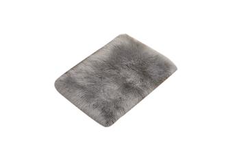 Super Soft Faux Sheepskin Fur Area Rugs Bedroom Floor Carpet Grey 80X80CM