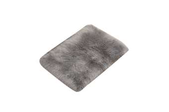 Super Soft Faux Sheepskin Fur Area Rugs Bedroom Floor Carpet Grey 90X90CM