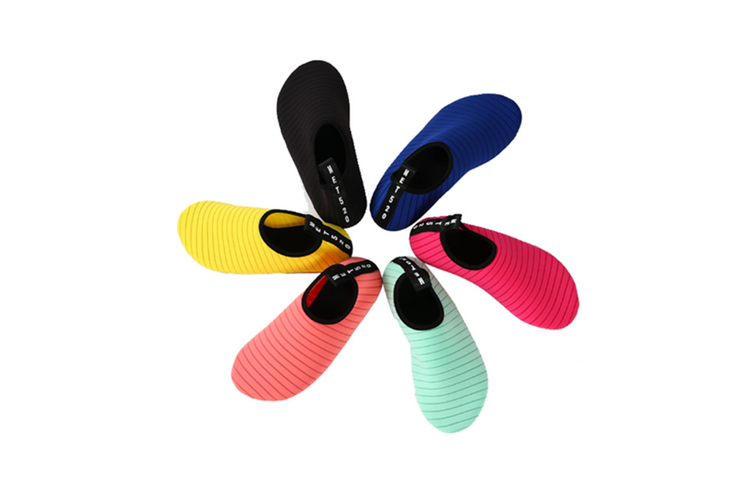 Water Sports Shoes Barefoot Quick-Dry Aqua Yoga Socks Slip-On Men Women Kids Navy 26/27