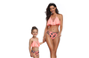 Tassels Family Matching Swimsuits Mom And Daughter Bikini Orange M
