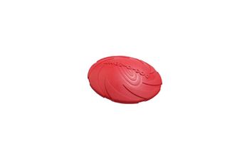 Pet Training Cyber Rubber Flying Saucer Interactive Toys,Floating Water Dog Toy Red S