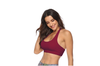 Women'S Light Support T Back Wirefree Pad Yoga Sports Bra Wine Red L