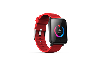 Smart Watch/Fitness Tracker,Waterproof Slim Sports Bracelet Activity Red
