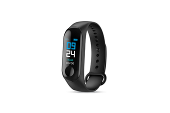 M3X Color Screen Blood Heart Rate Monitor Smart Watch Pedometer Black