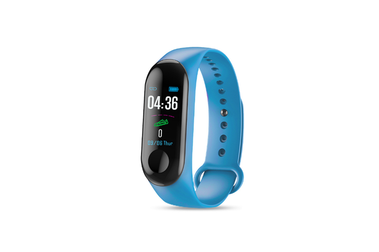 M3X Color Screen Blood Heart Rate Monitor Smart Watch Pedometer Blue