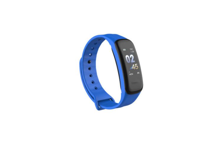 Smart Bracelet Waterproof Blood Pressure Heart Rate Monitor Smart Wrist Blue