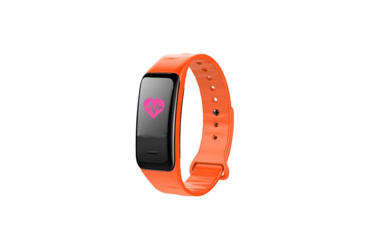 Smart Bracelet Waterproof Blood Pressure Heart Rate Monitor Smart Wrist Orange
