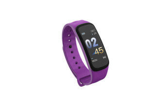 Smart Bracelet Waterproof Blood Pressure Heart Rate Monitor Smart Wrist Purple