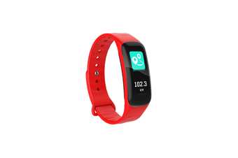 Smart Bracelet Waterproof Blood Pressure Heart Rate Monitor Smart Wrist Red