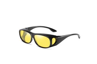 Hd Sunglasses Night Driving Glasses Anti-Glare Wear Over Glasses - 2