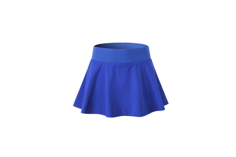 Women'S Pleated Elastic Quick-Drying Tennis Skirt With Shorts Running Skort - Blue Blue XXL
