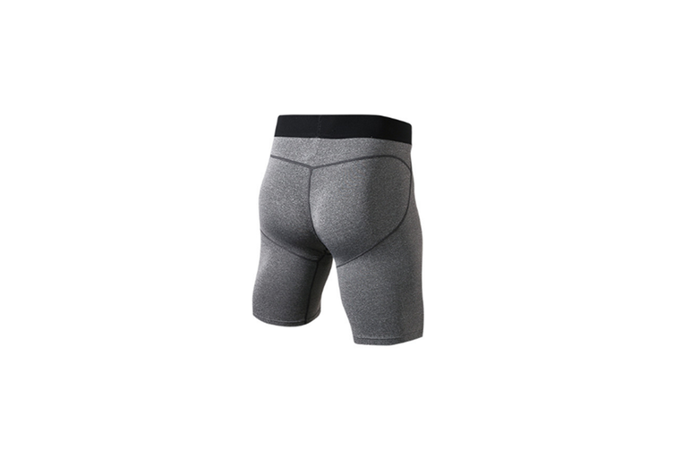 Men'S Compression Shorts Baselayer Cool Dry Sports Tights - Grey Grey S