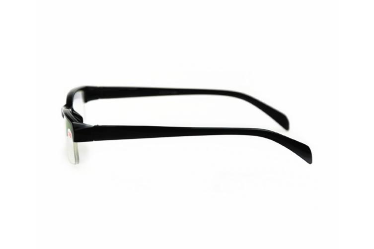 Shortsighted Glasses Half-Frame Myopia Glasses Black - Degree of 250