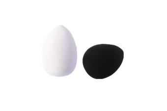 2 Pack Makeup Sponges Beauty Eggs , Water Droplets For Concealer Contouring Powde Black 2Pcs
