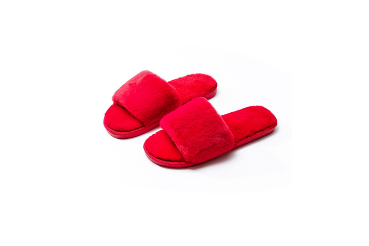 Women Bedroom Slippers Comfort Four Season Classy Indoor Spa Slide Shoes - Red Red 36-37(245Mm Length)