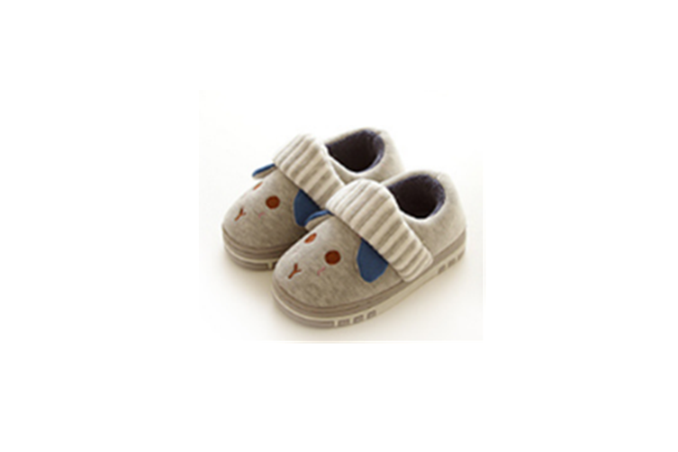 Unisex Cute Home Slippers Kid Fur Lined Winter House Slippers Warm Indoor Slippers - Grey Grey 210(19Cm Length)