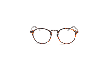 Classic Round Shape Full Frame Nearsighted Myopia Glasses - 4 Brown 600 Degrees Myopia