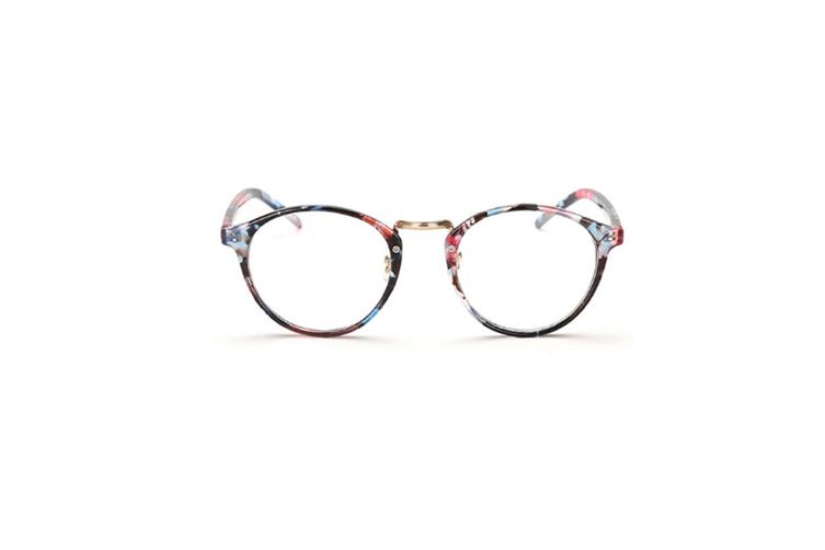 Classic Round Shape Full Frame Nearsighted Myopia Glasses - 5 Black 200 Degrees Myopia