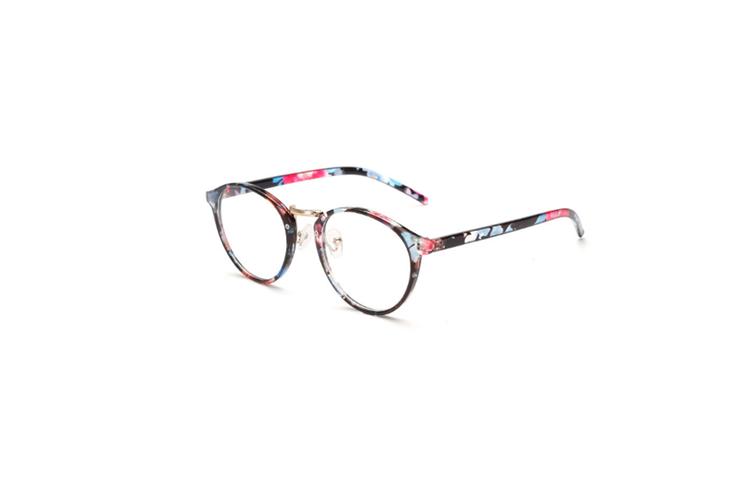 Classic Round Shape Full Frame Nearsighted Myopia Glasses - 5 Black 250 Degrees Myopia