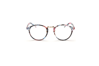 Classic Round Shape Full Frame Nearsighted Myopia Glasses - 5 Black 400 Degrees Myopia