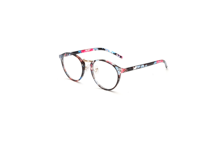 Classic Round Shape Full Frame Nearsighted Myopia Glasses - 5 Black 600 Degrees Myopia