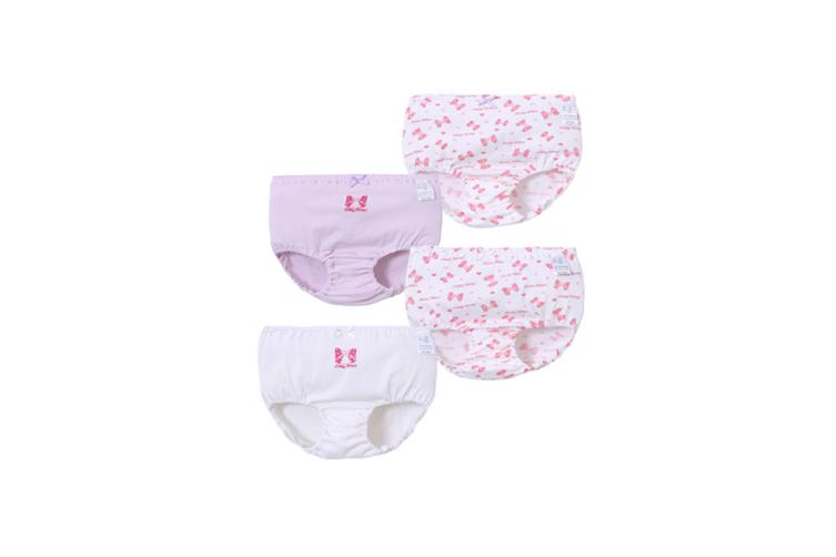 4Pcs Girls Toddler Cute Cotton Panties Underwear - 4 Purple 130Cm