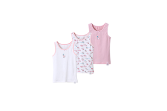 3Pcs Baby Toddler Boys GirlsCotton Tops Tanks - 2 Pink 100Cm