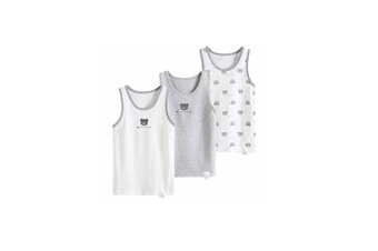 3Pcs Baby Toddler Boys GirlsCotton Tops Tanks - 6 Grey 100Cm