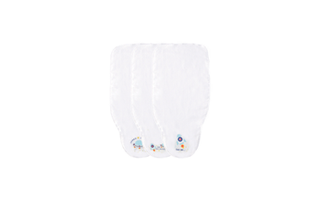 3Pcs Sweat Absorb Cloth Back Towel Toddler Soft Gauze Towel - 4 White 70