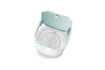 WJS 3.8L Ultrasonic Turbo Table Washing Machine Household Small Portable Super Shock Wave Washing Machine-White