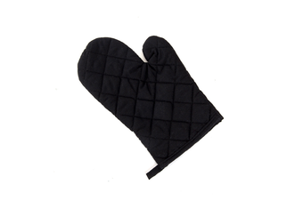 2Pcs Of Thickened Microwave Oven Gloves With High Temperature Resistance Black