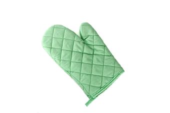 2Pcs Of Thickened Microwave Oven Gloves With High Temperature Resistance Green