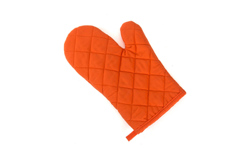 2Pcs Of Thickened Microwave Oven Gloves With High Temperature Resistance Orange