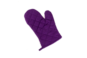 2Pcs Of Thickened Microwave Oven Gloves With High Temperature Resistance Purple