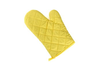 2Pcs Of Thickened Microwave Oven Gloves With High Temperature Resistance Yellow