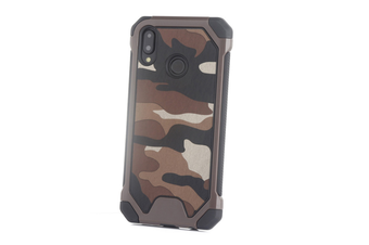 3-In-1 Protective Cover For Camouflage Mobile Phone Case For Huawei Brown Huawei P9 Plus