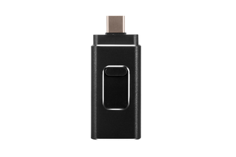 4-In-1 Flash Drive U-Disk Storage Rod For Iphone Android Type-C Computer Black 64G