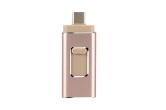 4-In-1 Flash Drive U-Disk Storage Rod For Iphone Android Type-C Computer Gold 32G