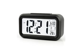 Temperature Alarm Clock Silence Electronic Clock Creative Digital Clock Black